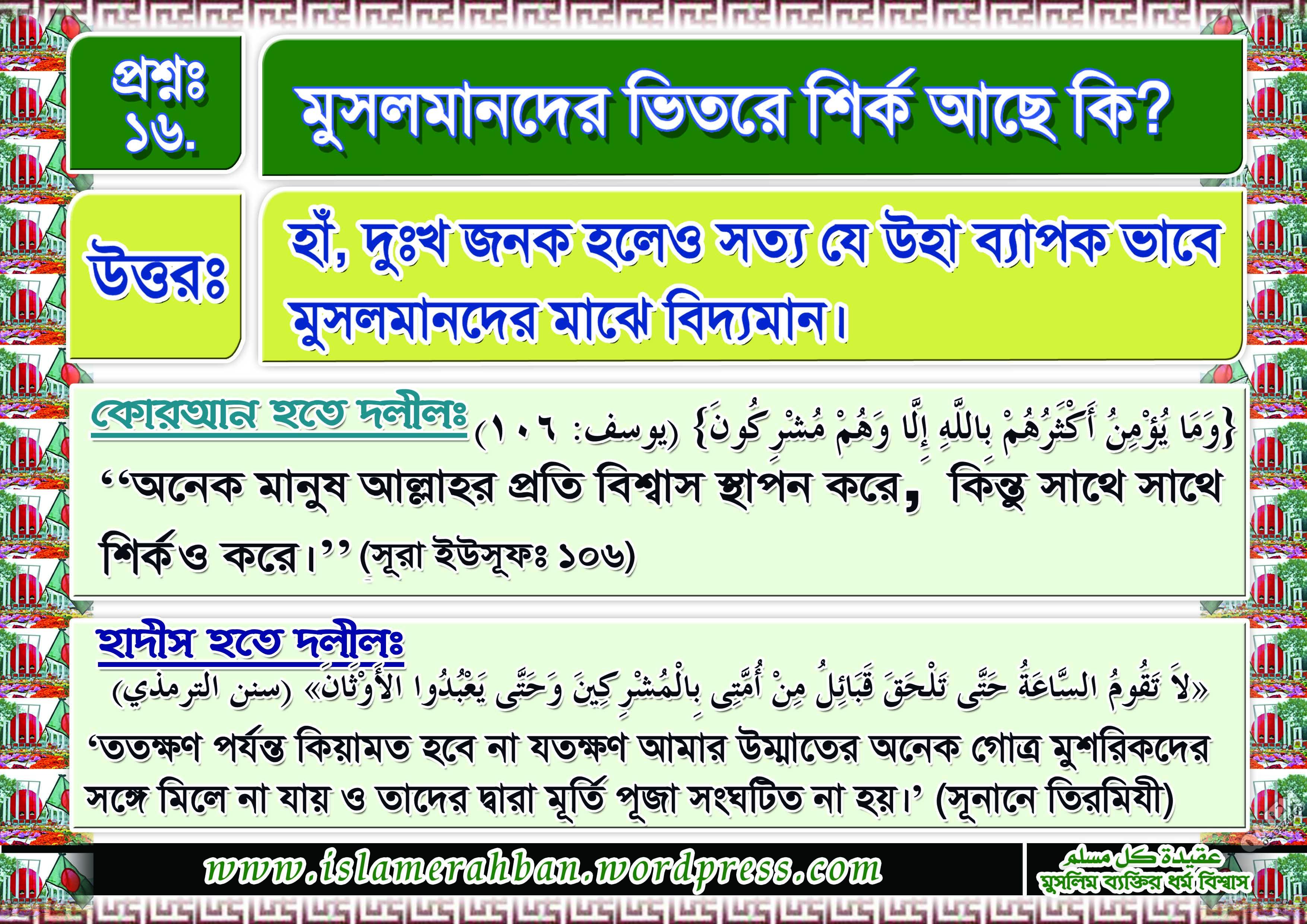 Muslimer Aqidah-16